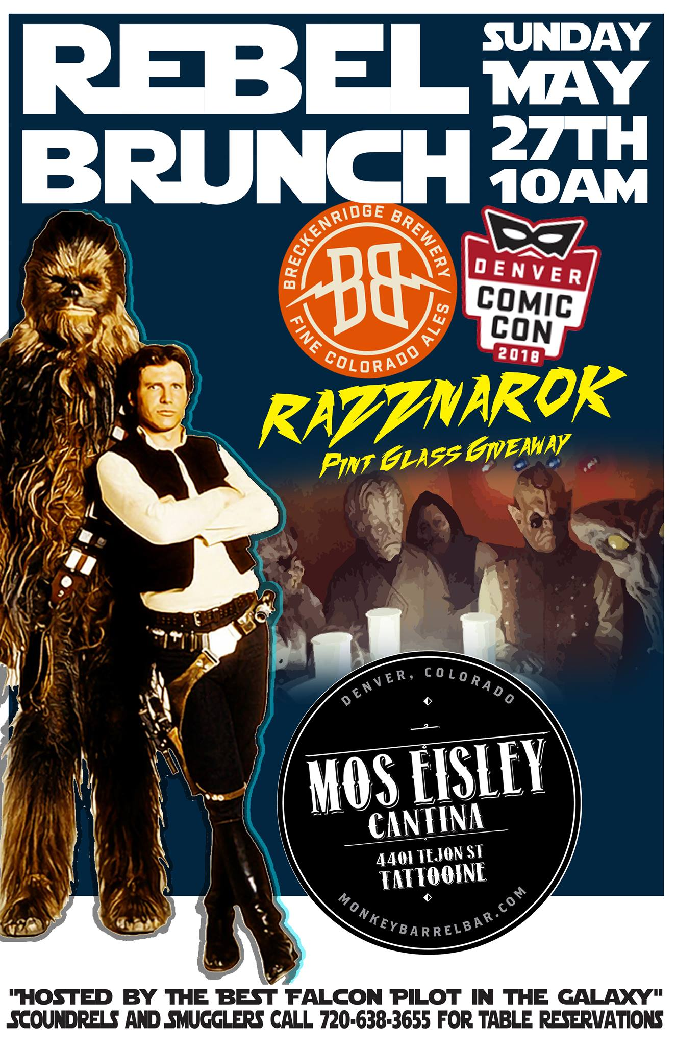 Rebel Brunch & Comic-Con Pint Glass Giveaway
